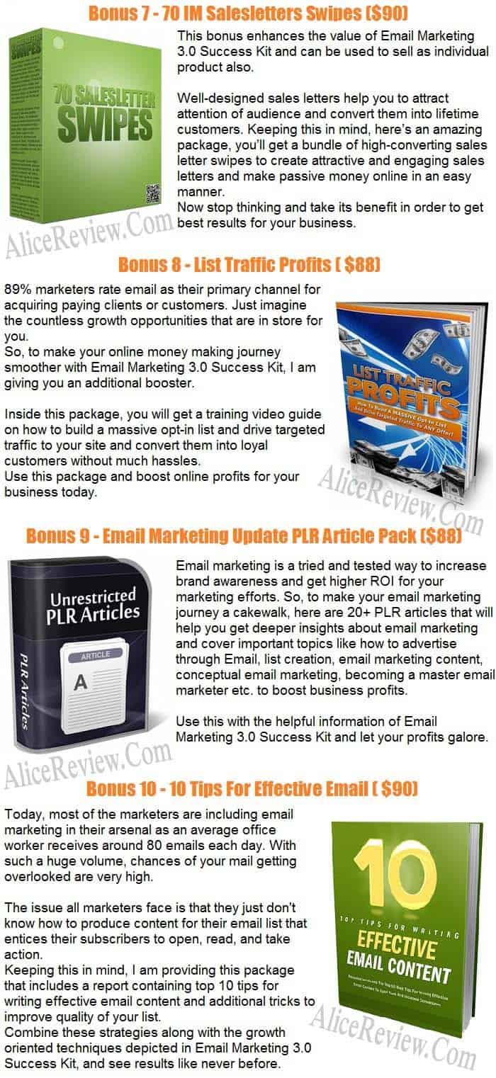 Get Email Marketing 3.0 Success Kit PLR Bonus