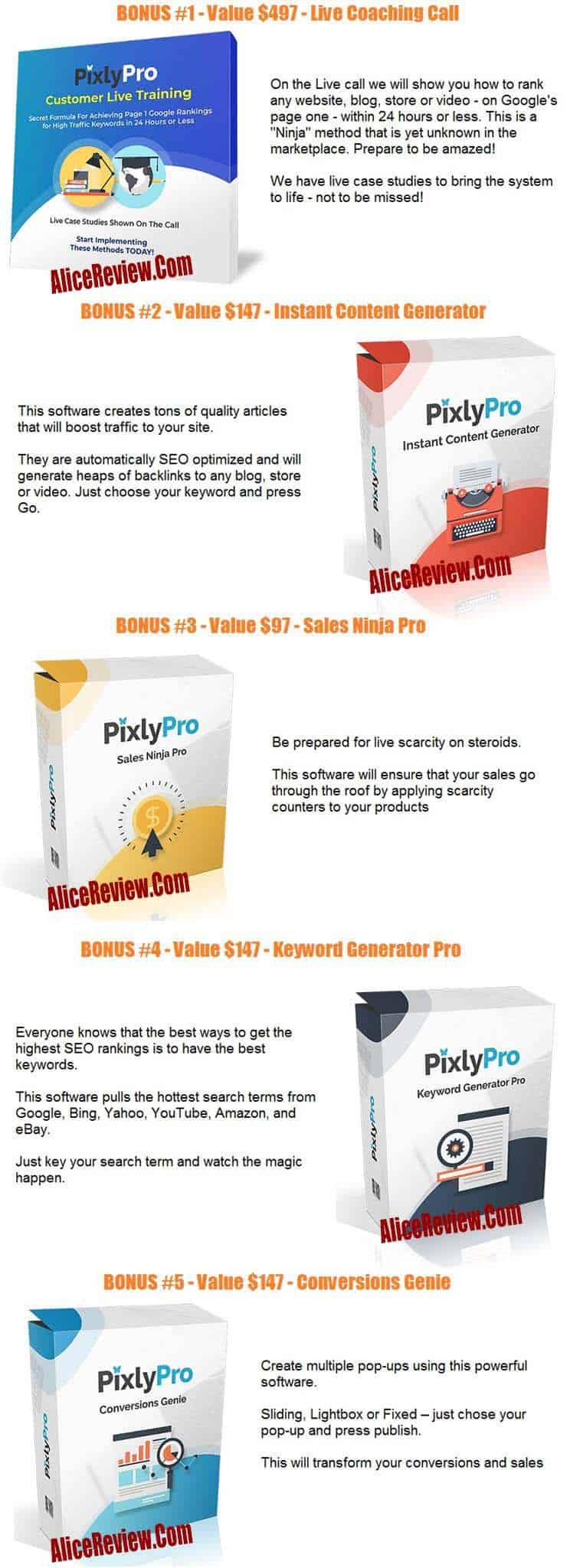 PixlyPro Bonus