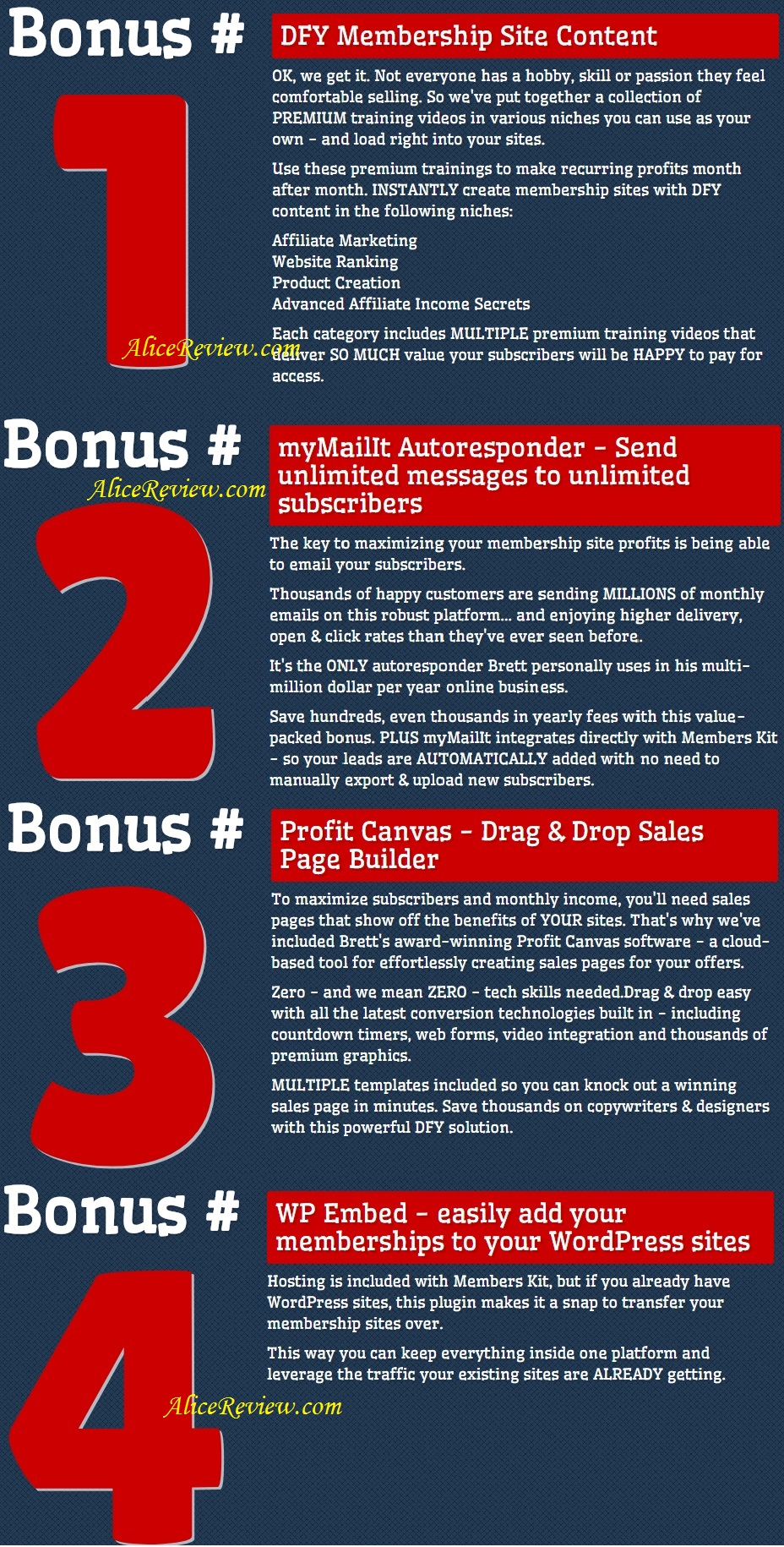 Members Kit bonus