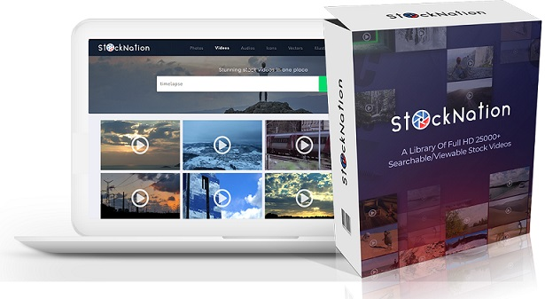 StockNation Review & Bonus – A Collection of 1MN+ HD Videos, HD Images, Audios, Illustrations & Vectors