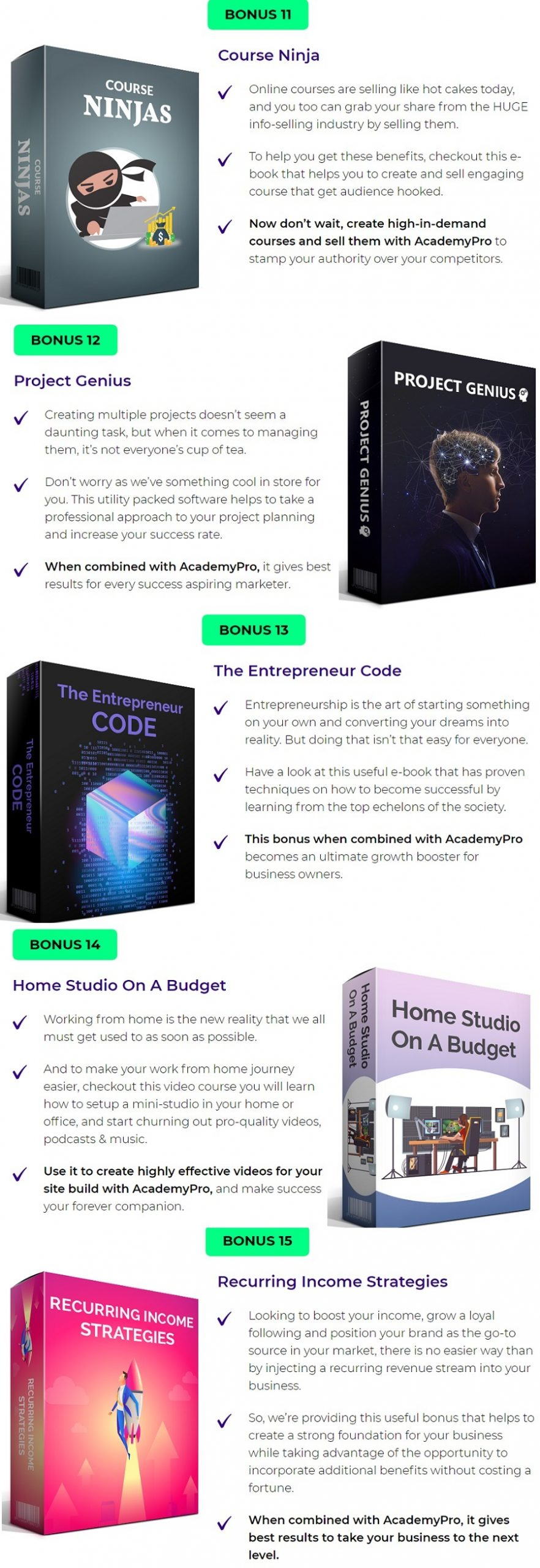 Academypro bonus discount