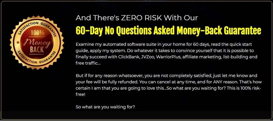 Commision Creator Money Back Guarantee